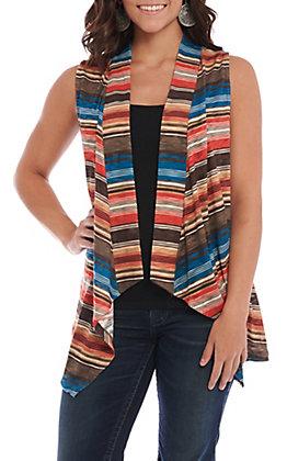 Rock & Roll Cowgirl Women's Serape Print Vest