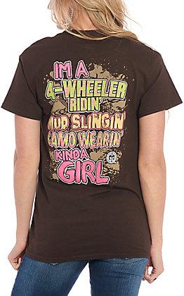 Girlie Girl Originals Brown 4-Wheeler Ridin' Kinda Girl Short Sleeve T-Shirt