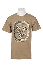 Chris Kyle Men's Khaki Honor Safari Logo S/S Graphic T-Shirt