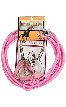 M&F Little Outlaw Kids Rope Spur & Badge Set 50106