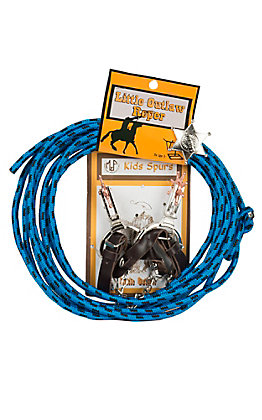 M&F Little Outlaw Kids Rope Spur & Badge Set 50108