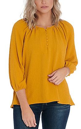 Newbury Kustom Women's Mustard Fashion Top