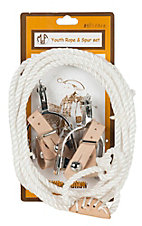 M&F Little Outlaw Youth Rope & Spur Set