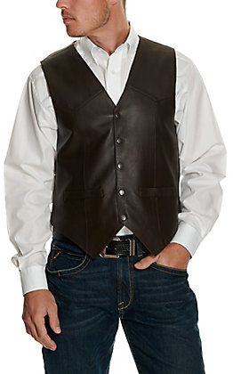 Scully Brown Snap Lamb Vest