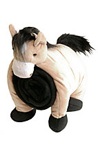 M&F Western Products Tan and Black Pillow/Blanket Plush Horse
