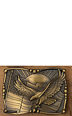 AndWest Brass Eagle & Flag Rectangular Buckle