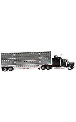 M&F Bigtime Rodeo Black Kenworth Bull Hauler Toy Set