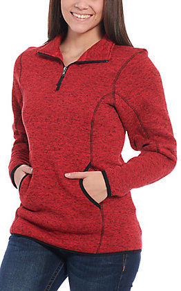Powder River Outfitters by Panhandle Women's Red Quarter Zip Pullover Jacket