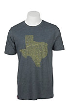 Tumbleweed Texstyles Men's Charcoal Grey with Texas Towns Screen Print Short Sleeve T-Shirt