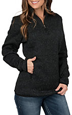 Powder River by Panhandle Women's Heather Charcoal Fleece Pullover