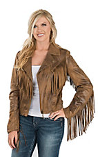 Powder River Outfitters by Panhandle Women's Faux Leather Motorcycle Jacket