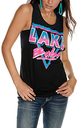 Country Deep Women's Black Lake Babe Sleeveless Tank Top