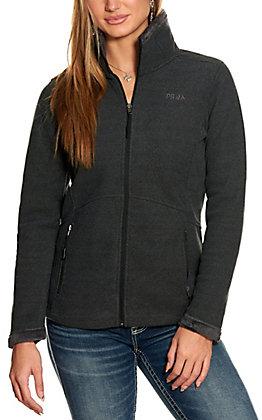 Powder River Women's Black Waffle Knit Fleece Lined Performance Jacket
