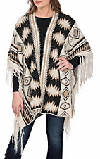 Powder River Outfitters by Panhandle Women's Two Tone Fringe Cardigan
