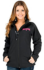 Powder River Women's Black Soft Shell Performance Logo Jacket
