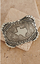 AndWest Vintage Collection Antiqued Silver with State of Texas Buckle