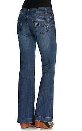 Stetson Women's Dark Wash 214 City Low Rise Trouser Jeans