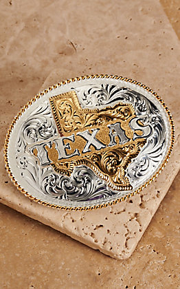 Montana Silversmiths Large Oval Texas Buckle