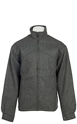 Schaefer Men's Grey Melton Wool Arena Jacket