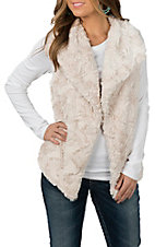 Powder River Outfitters by Panhandle Women's Cream Faux Fur Vest