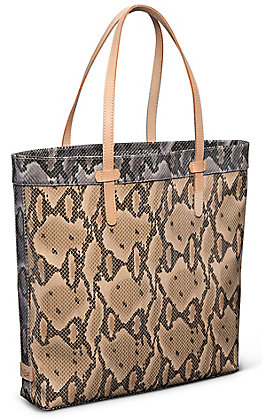 Consuela Margot Brown Snake Slim Tote