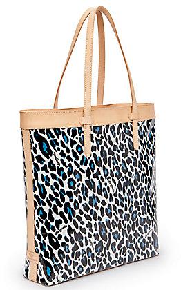 Consuela Lola Leopard Print Slim Tote