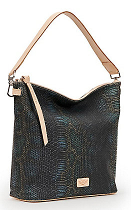 Consuela Rattler Snake Print Hobo Bag