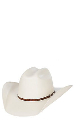 Cavender's Cowboy Collection 100X Ivory Shantung Straw Cowboy Hat
