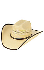 Cavenders Wheat Two-Tone Bound Edge Straw Cowboy Hat