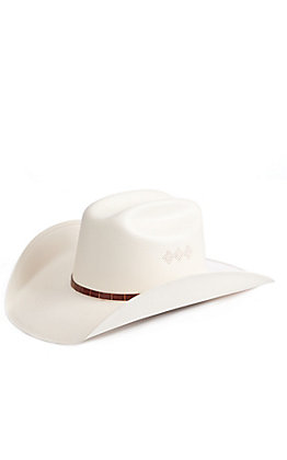 Cavender's Collection 100X Ivory Shantung Straw Hat