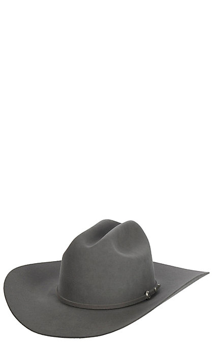7d1c76dc3 Rodeo King 5X Slate Low Rodeo Felt Cowboy Hat