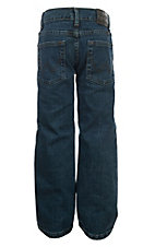 Wrangler Boys Prewash Regular Straight Leg Husky Jeans (Sizes 8-16)