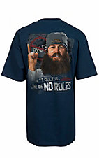 Duck Dynasty Men's Blue The #1 Rule Is There Are No Rules T-Shirt