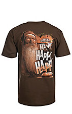 Duck Dynasty Men's Coffee Brown Happy Happy Happy T-Shirt