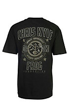Chris Kyle Frog Foundation Black with Logo Screen Print Short Sleeve T-Shirt