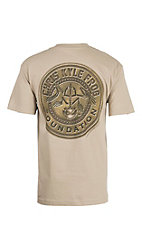 Chris Kyle Frog Foundation Beige with Logo Screen Print Short Sleeve T-Shirt