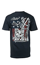 Chris Kyle Frog Foundation Navy with Logo Screen Print Short Sleeve T-Shirt