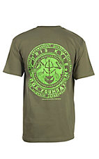 Chris Kyle Frog Foundation Green with Logo Screen Print Short Sleeve T-Shirt