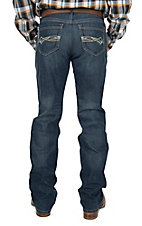 Cinch Men's Medium Wash Straight Leg Embroidered Open Pocket Jeans