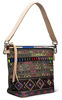 Consuela Ryan Wedge Embroidered Small Hobo Bag