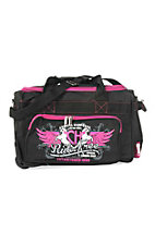 Cowgirl Hardware Black and Pink 18 Inch Gear Bag