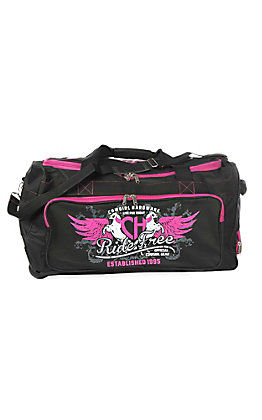 Cowgirl Hardware Black and Pink 26 Inch Gear Bag