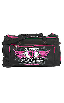 Cowgirl Hardware Black and Pink 30 Inch Gear Bag