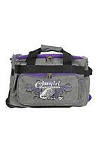 Cowgirl Hardware Grey and Purple 18 Inch Gear Bag