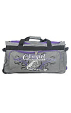 Cowgirl Hardware Grey and Purple 26 Inch Gear Bag
