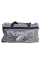 Cowboy Hardware Grey and Purple 30 Inch Gear Bag