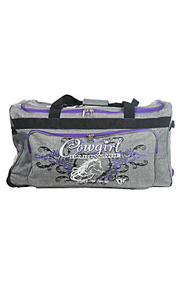 Cowgirl Hardware Grey and Purple 30 Inch Gear Bag