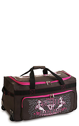 Cowgirl Hardware Heather Brown and Hot Pink 26 Inch Gear Bag