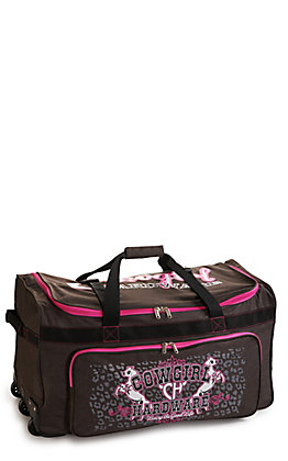 Cowgirl Hardware Heather Brown and Hot Pink 30 Inch Gear Bag