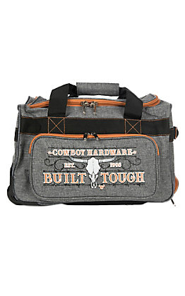 Cowboy Hardware Grey and Orange 18 Inch Gear Bag